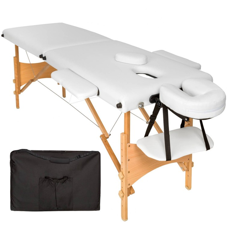 Massagetafel zacht, verstelbaar + accessoires