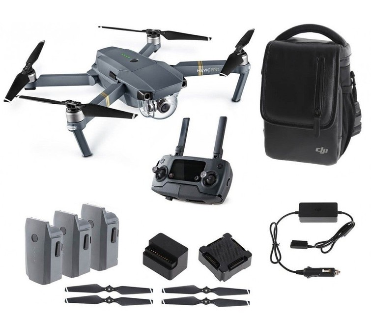 Drone - DJI Mavic Pro (incl. 3 battery packs & diverse filters)