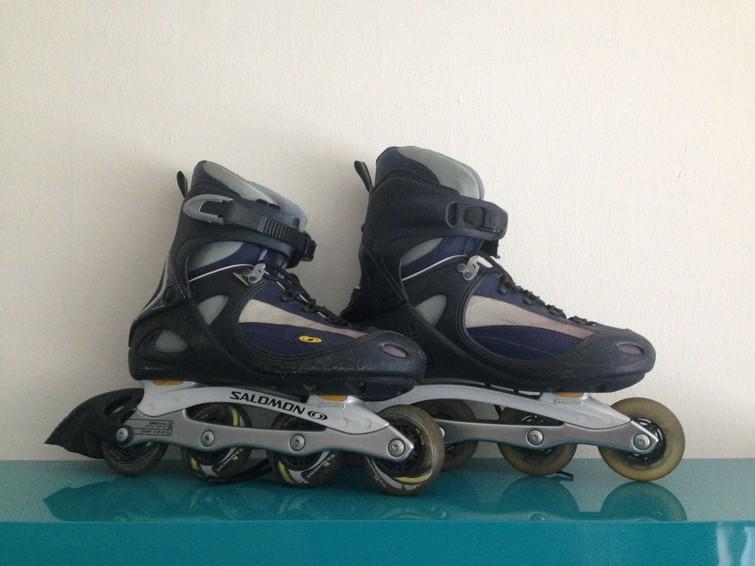 Inline skates met beschermers (maat 46)